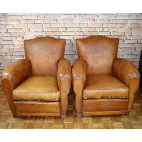 Pair Vintage French Club Chair