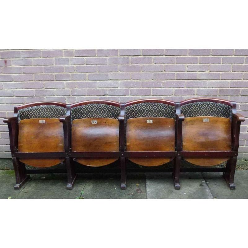 Cinema Seat Vintage Furniture VCS004 La Boutique Vintage