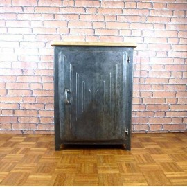 Petit meuble Industriel - Top en bois - ISC002