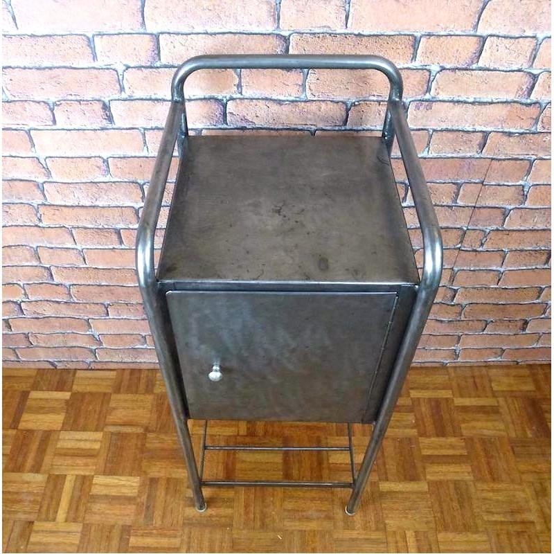 table de nuit meuble industriel ibt004 la boutique vintage. Black Bedroom Furniture Sets. Home Design Ideas