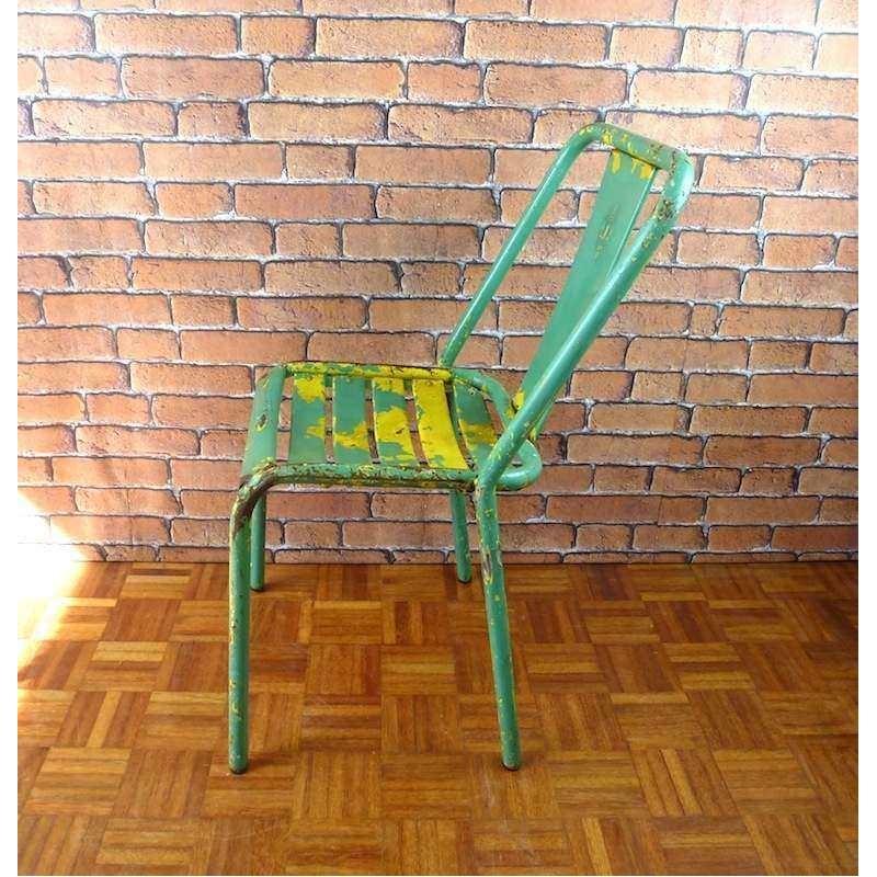 Chaise tolix t4 meuble indus itc007 la boutique vintage - Meuble tolix ...