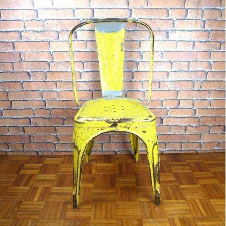 Tolix Chair A Industrial Furniture-Yellow-ITC010