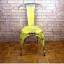 Tolix Chair Industrial Furniture-Yellow-ITC009