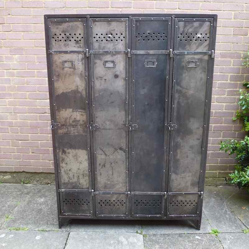 Vintage Industrial Metal Doors : Industrial locker furniture iml la boutique vintage