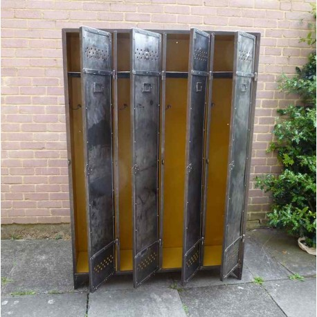 vestiaire industriel 4 portes iml005 la boutique vintage