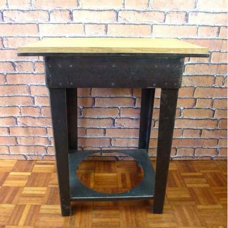 Console d 39 atelier meuble indus ist001 la boutique vintage - Table de nuit industrielle ...