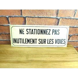 Plaque Metal SNCF - Decoration Industrielle - KMS001