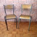 School Chair - Vintage Furniture - Set of 2 - VMC002