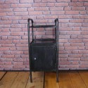 Bedside Table - Industrial Furniture - Graphite - IBT002