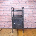 Bedside Table - Industrial Furniture - Graphite - IBT001
