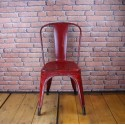 Tolix Chair - Industrial Furniture -  Type A Red - ITC001
