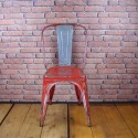 Tolix Chair - Industrial Furniture -  Type A Red/Grey - ITC002