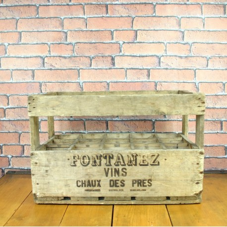 French Vintage Wine Wooden Crate