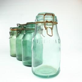 Vintage Jam Jars Durfor - L'Ideale - Set of 4