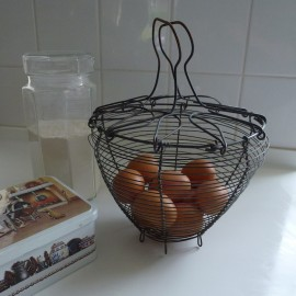Vintage Egg Wire Basket