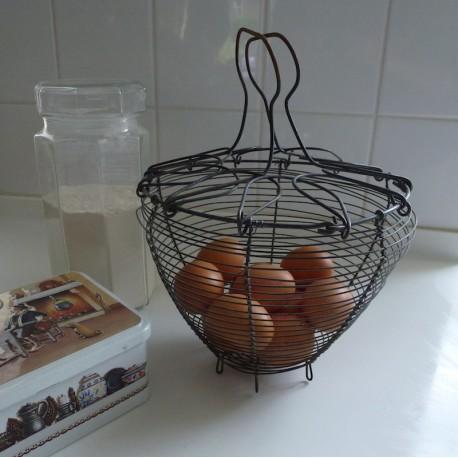 Vintage Egg Wire Basket