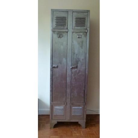 Industrial French Locker 2 doors