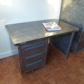 Industrial French Strafor Metal Desk