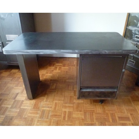 Industrial French Roneo Metal Desk