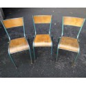 Vintage Mullca School chairs - Set of 3